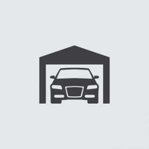 Car in garage icon illustration isolated vector sign symbol